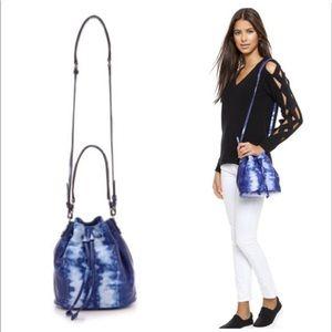 Elizabeth & James Blue Tie Dye Bucket Bag NWOT